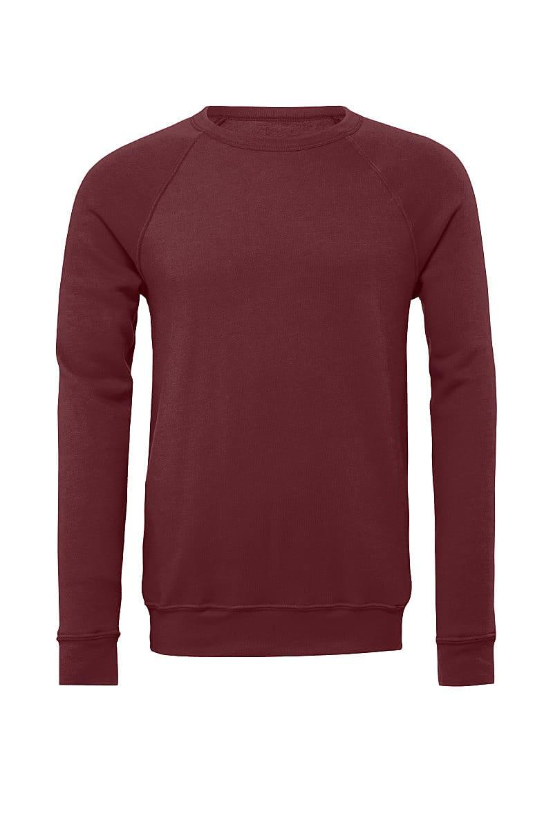 Bella Canvas Unisex Sponge Fleece Raglan Sweater in Maroon (Product Code: CA3901)