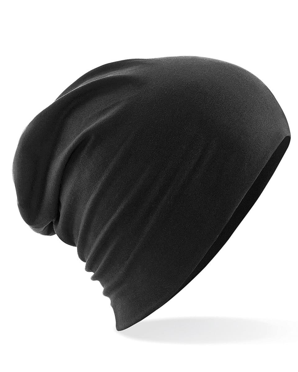 Beechfield Hemsedal Cotton Slouch Beanie Hat in Black (Product Code: B368)