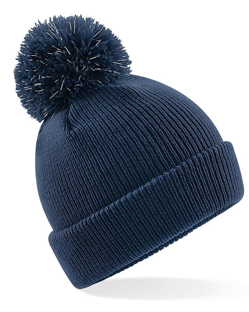 Beechfield Junior Reflective Beanie Hat in French Navy (Product Code: B406B)