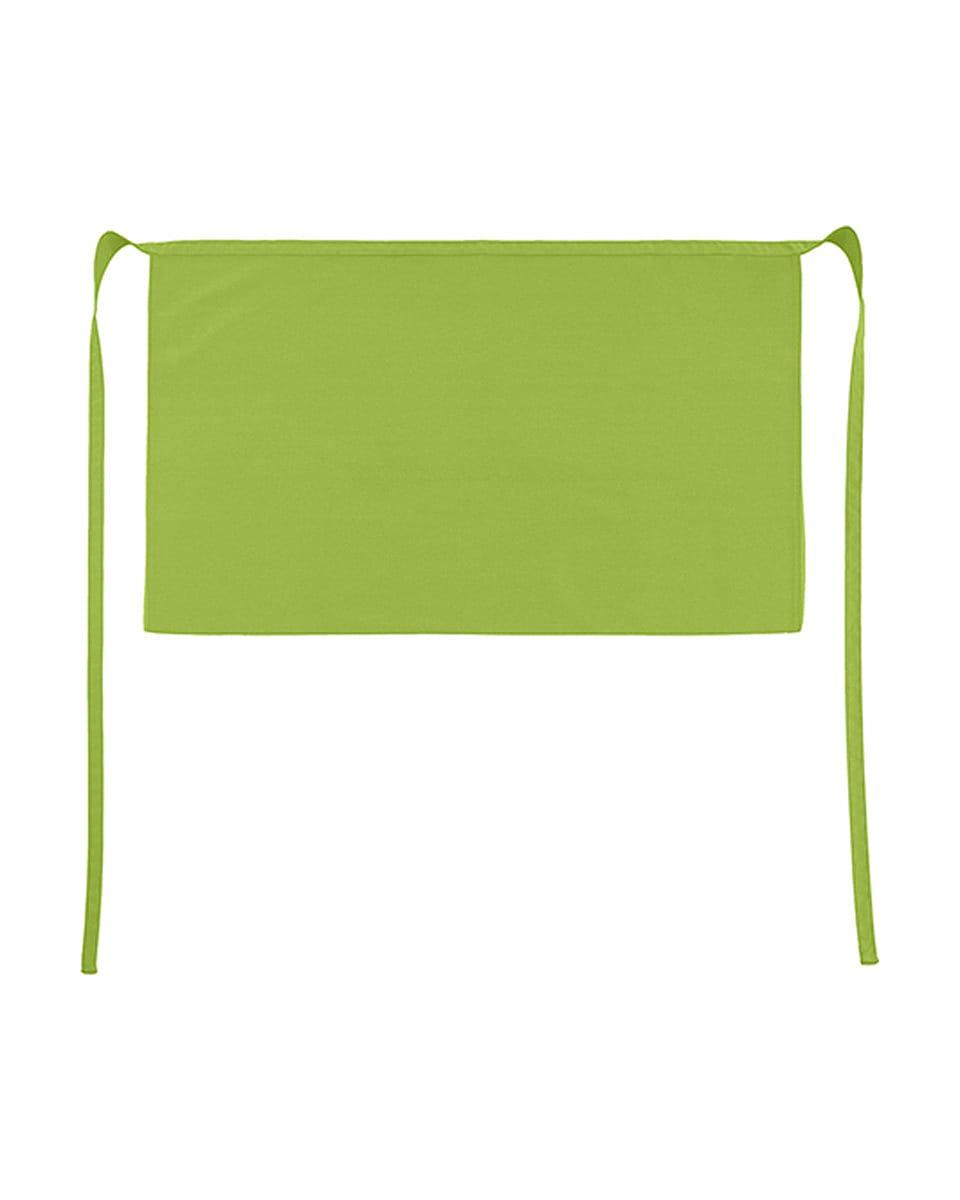 Jassz Bistro Brussels Short Apron in Lime (Product Code: JG14)