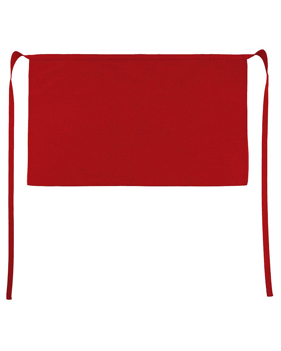 Jassz Bistro Brussels Short Apron in Red (Product Code: JG14)