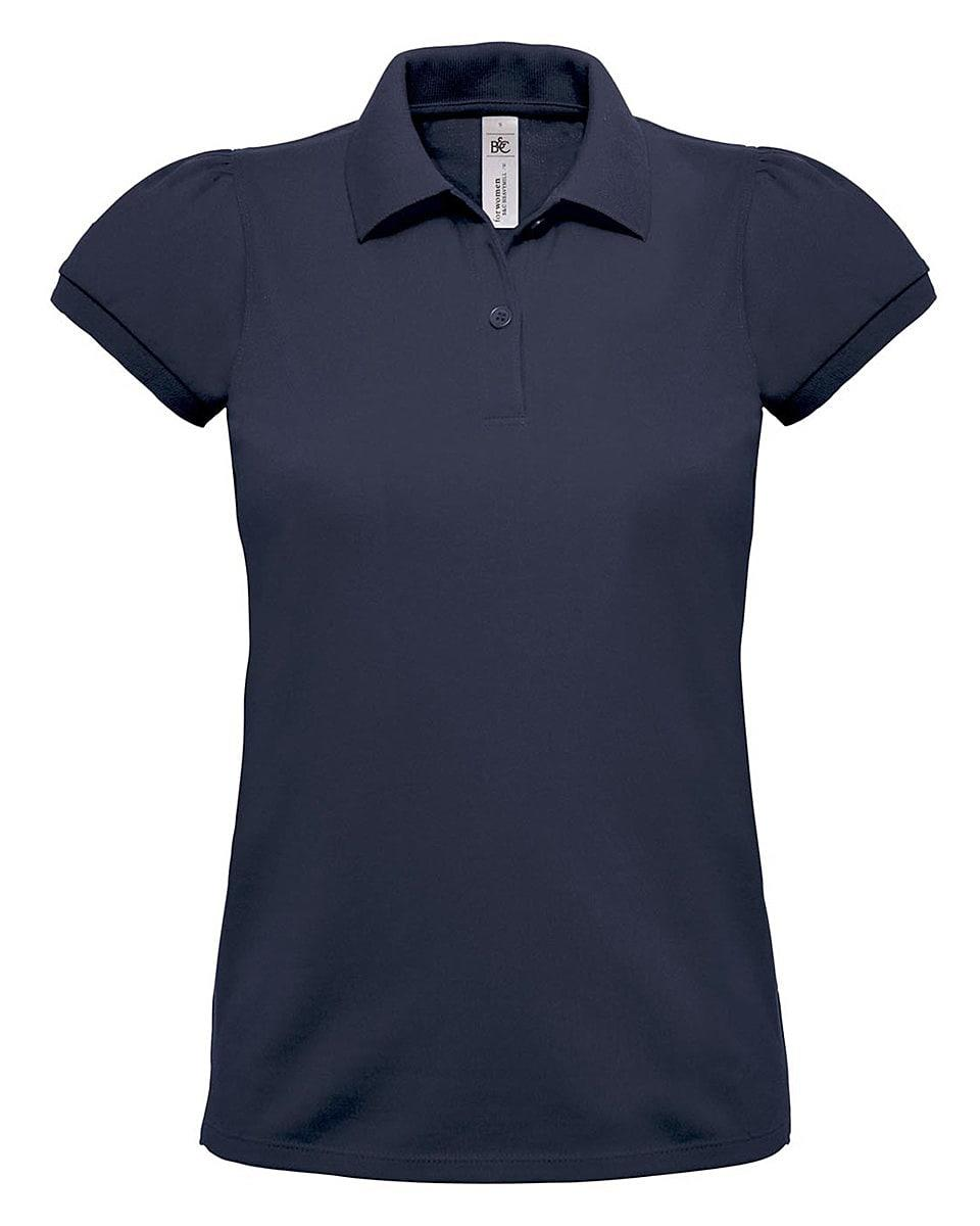 B&C Womens Heavymill Polo Shirt in Navy Blue (Product Code: PW460)