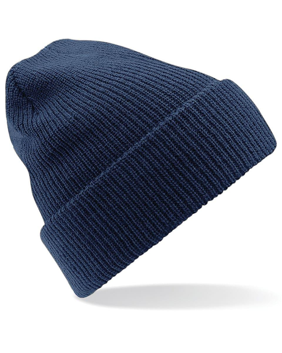 Beechfield Heritage Beanie Hat in French Navy (Product Code: B425)