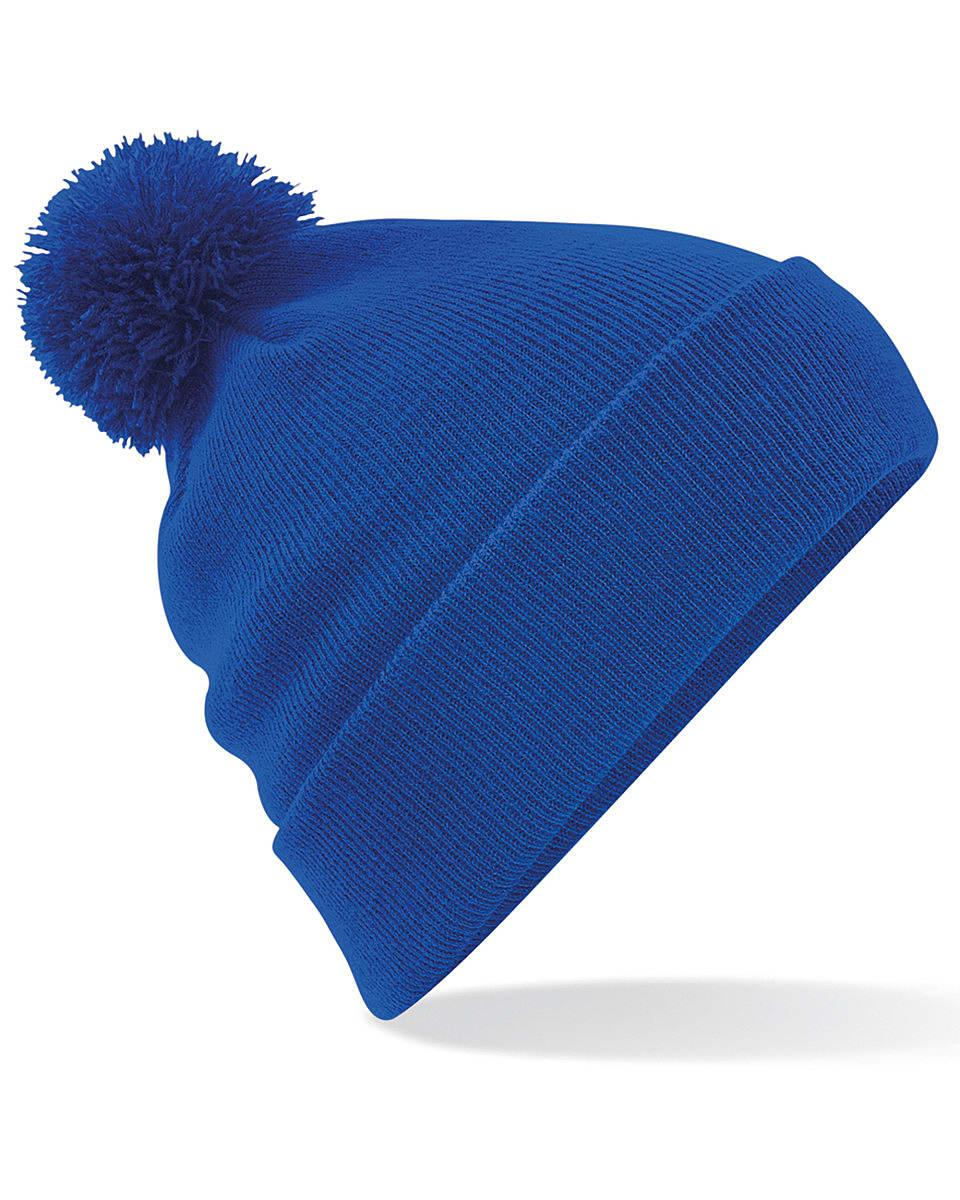 Beechfield Original Pom Pom Beanie Hat in Bright Royal (Product Code: B426)