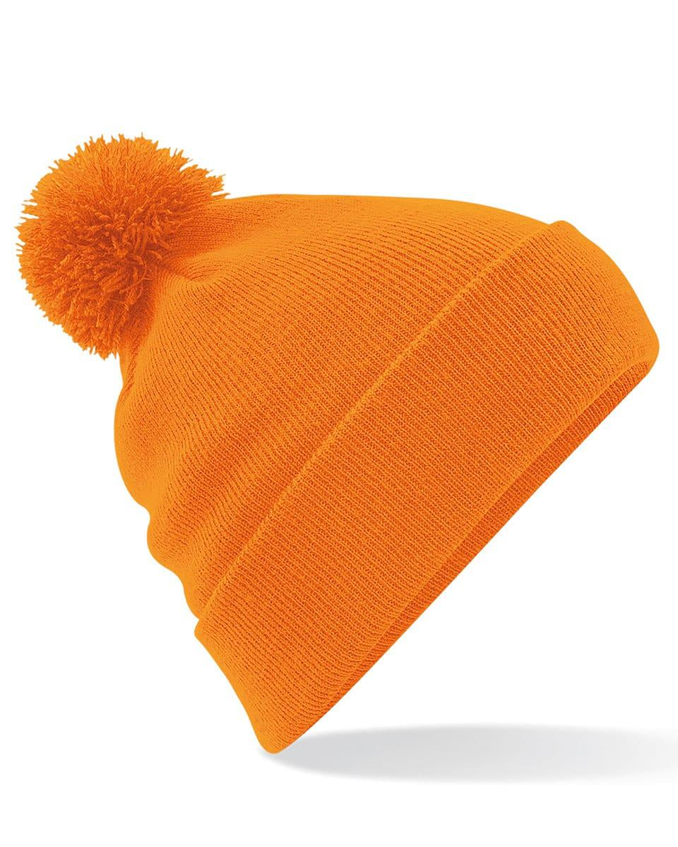 Beechfield Original Pom Pom Beanie Hat in Orange (Product Code: B426)