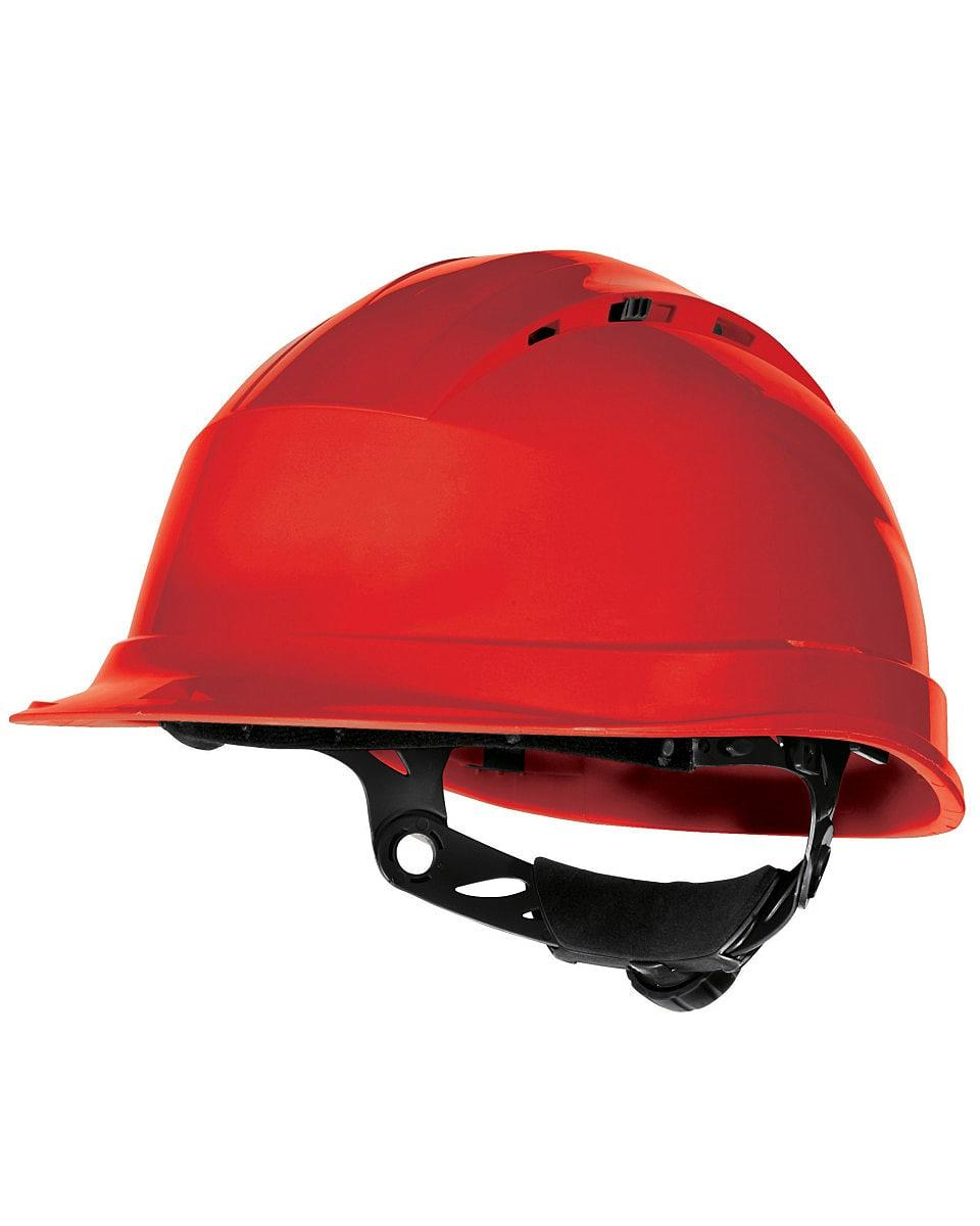 Delta Plus Quartz Rotor Safety Helmet in Red (Product Code: QUARTZ4)