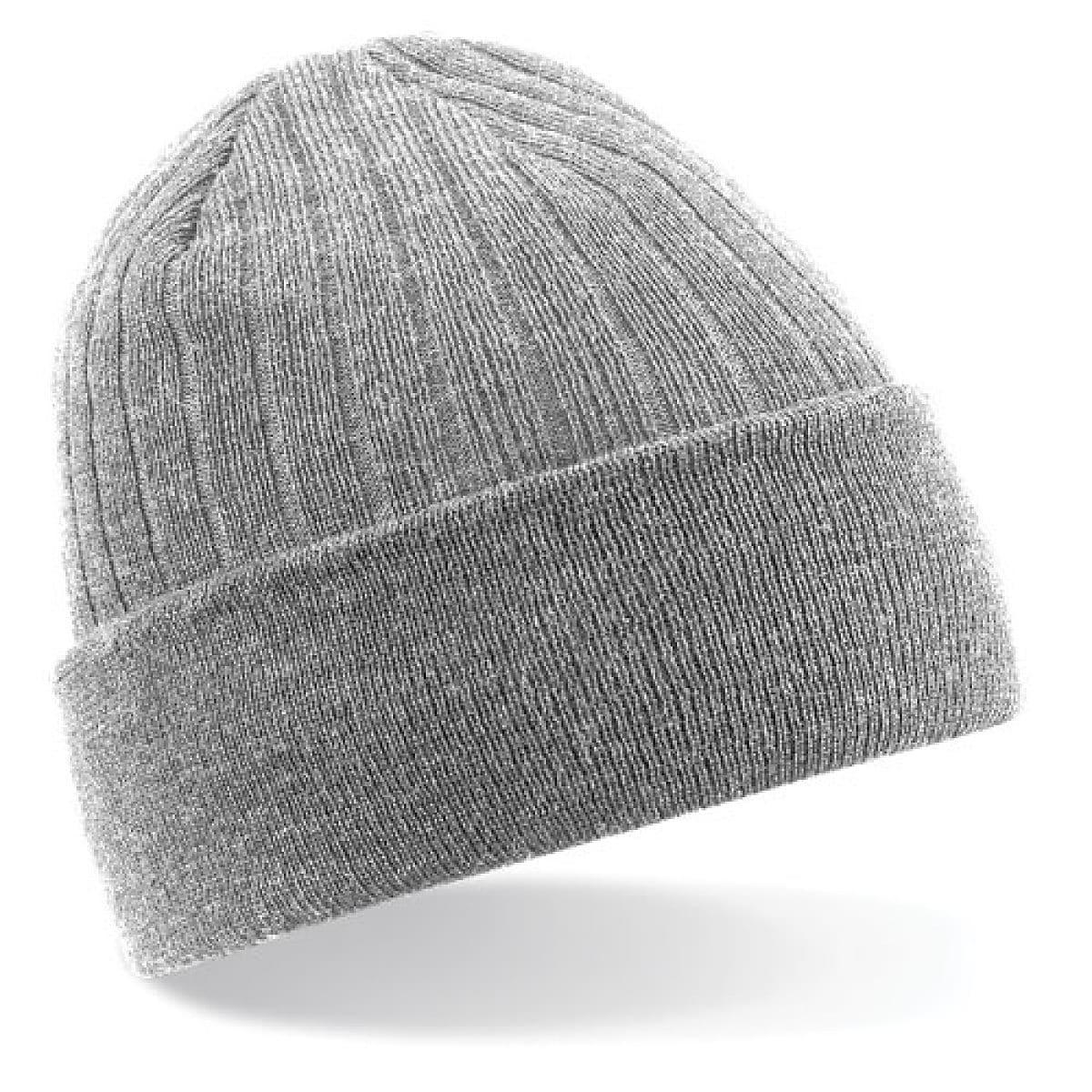 Beechfield Thinsulate Beanie Hat in Heather Grey (Product Code: B447)