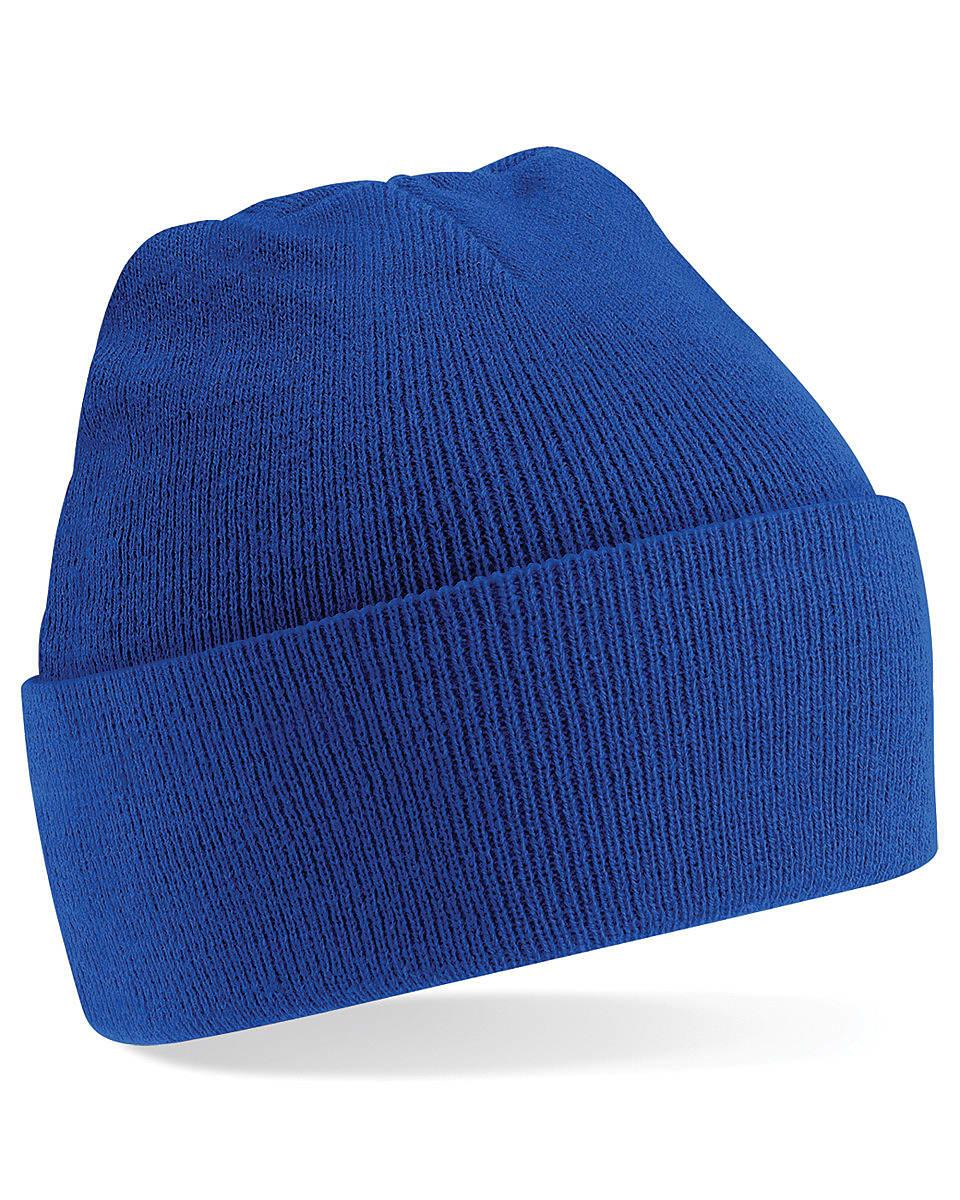 Beechfield Original Cuffed Beanie Hat in Bright Royal (Product Code: B45)