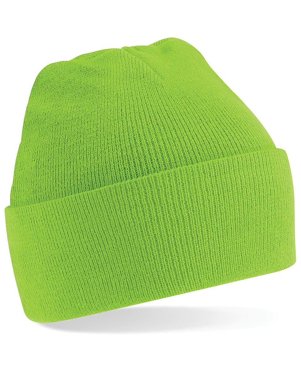 Beechfield Original Cuffed Beanie Hat in Lime (Product Code: B45)