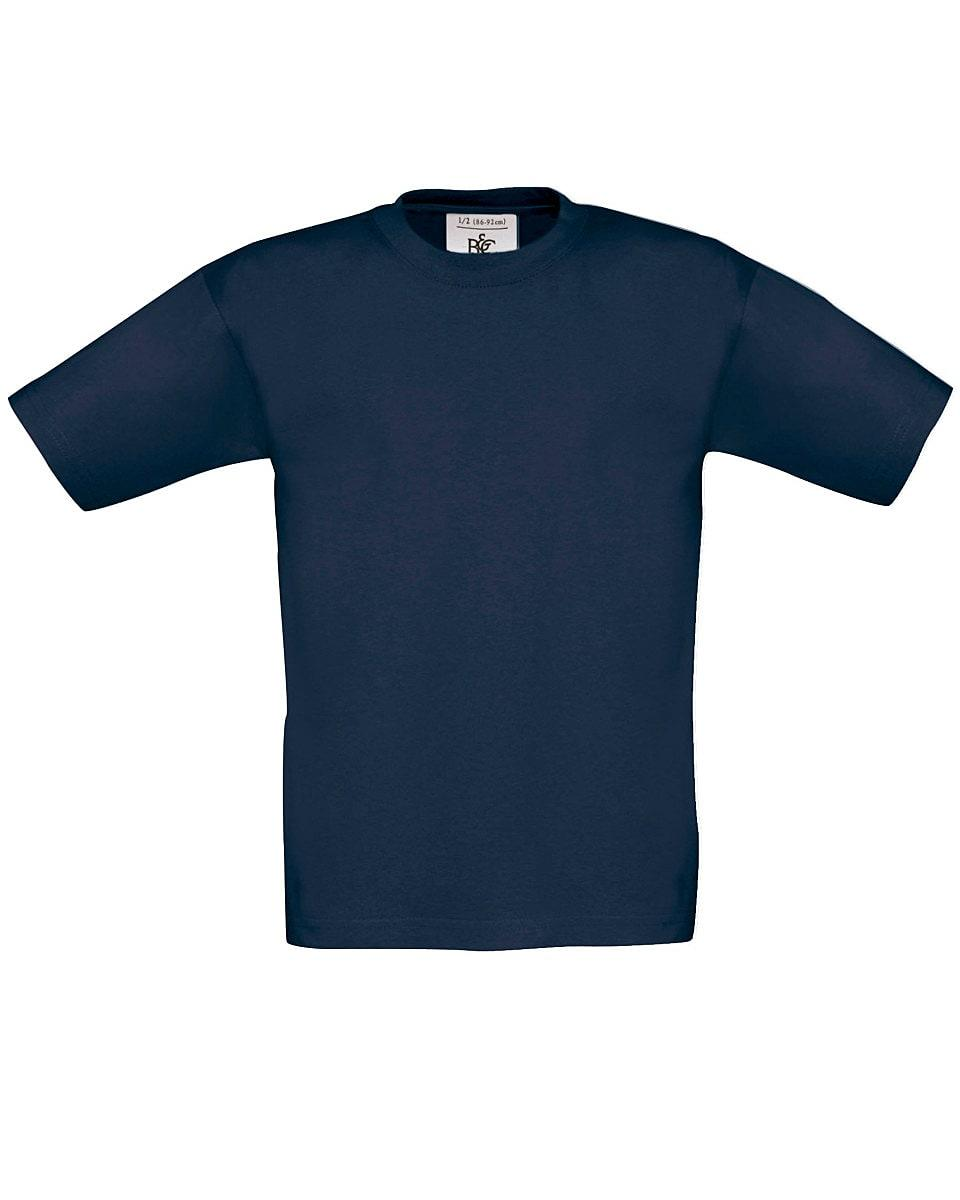 B&C Childrens Exact 150 T-Shirt in Navy Blue (Product Code: TK300)