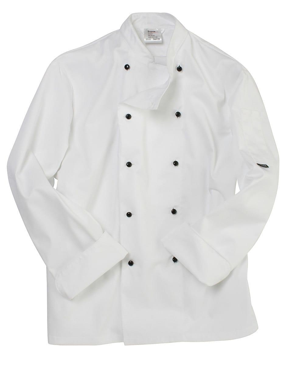 Dennys Lightweight Long-Sleeve Chefs Jacket in White (Product Code: DD20)