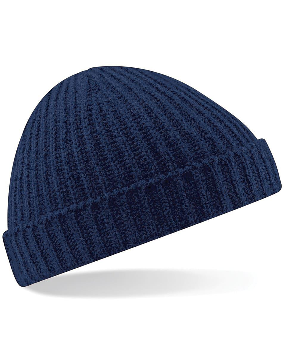 Beechfield Trawler Beanie Hat in French Navy (Product Code: B460)