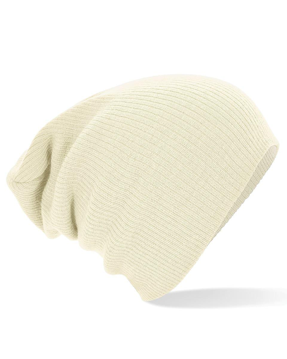 Beechfield Slouch Beanie Hat in Off-White (Product Code: B461)