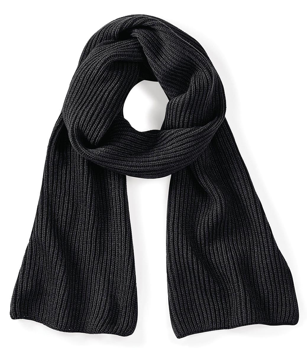 Beechfield Metro Knitted Scarf in Black (Product Code: B469)