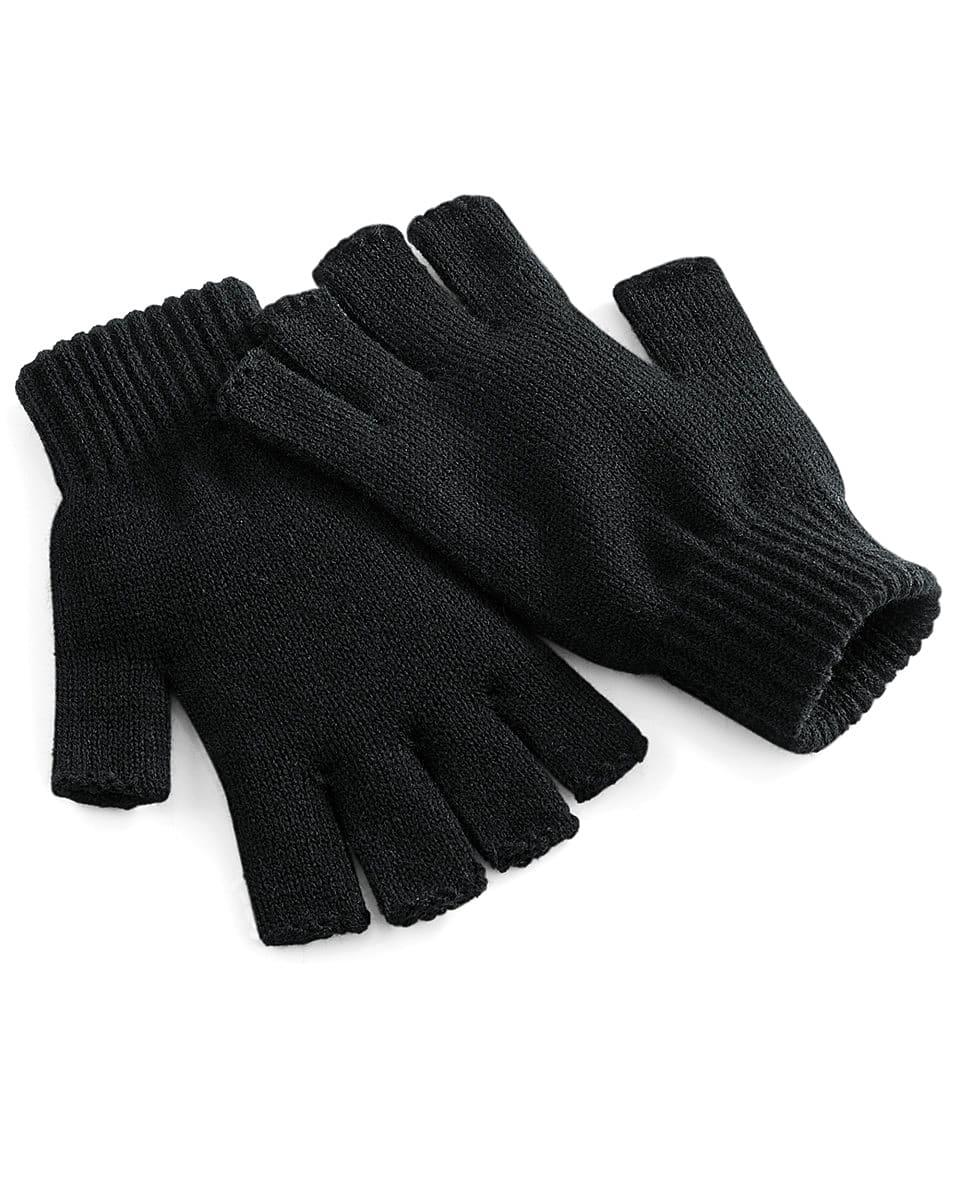 Beechfield Fingerless Gloves in Black (Product Code: B491)
