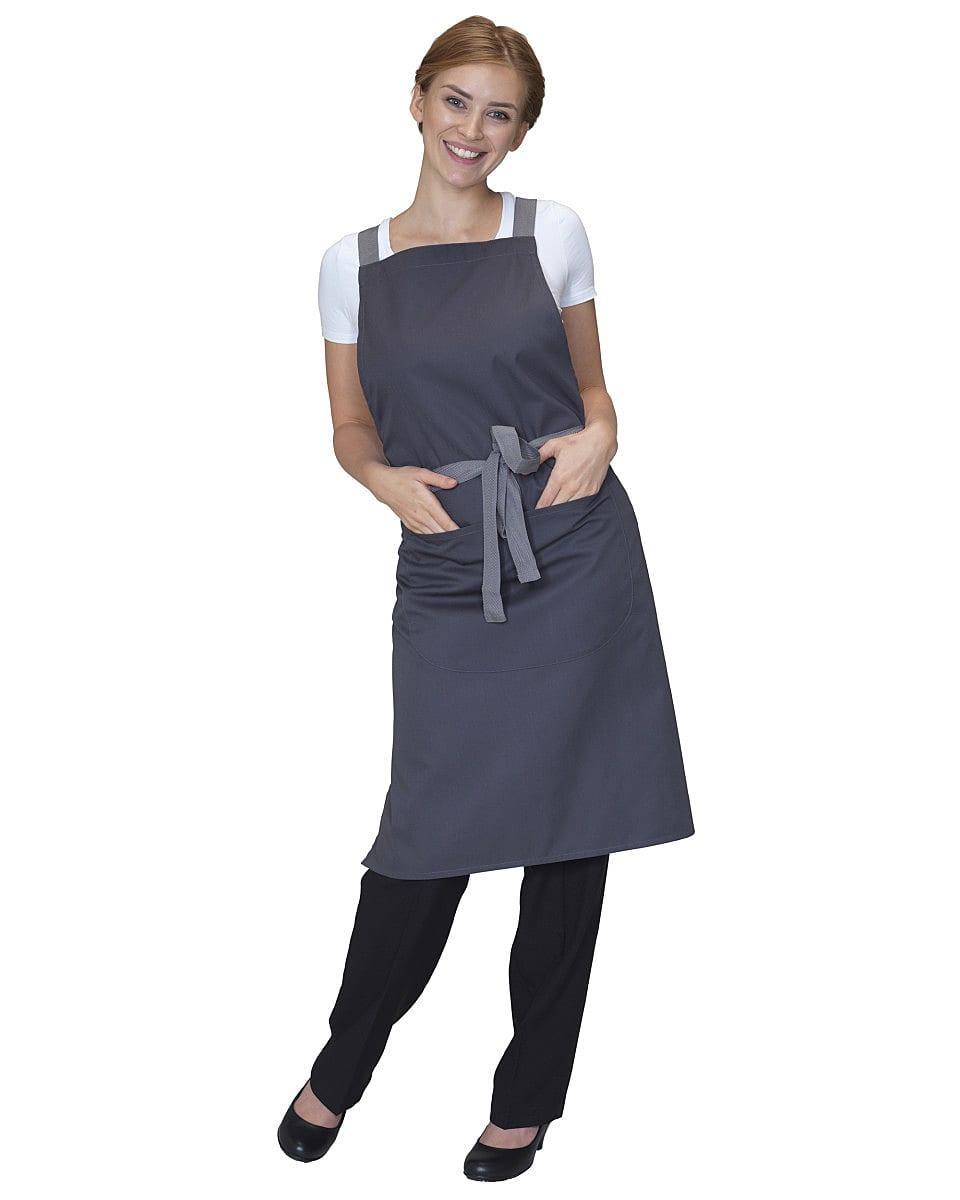 Dennys Cross Back Apron in Storm Grey (Product Code: DP130)