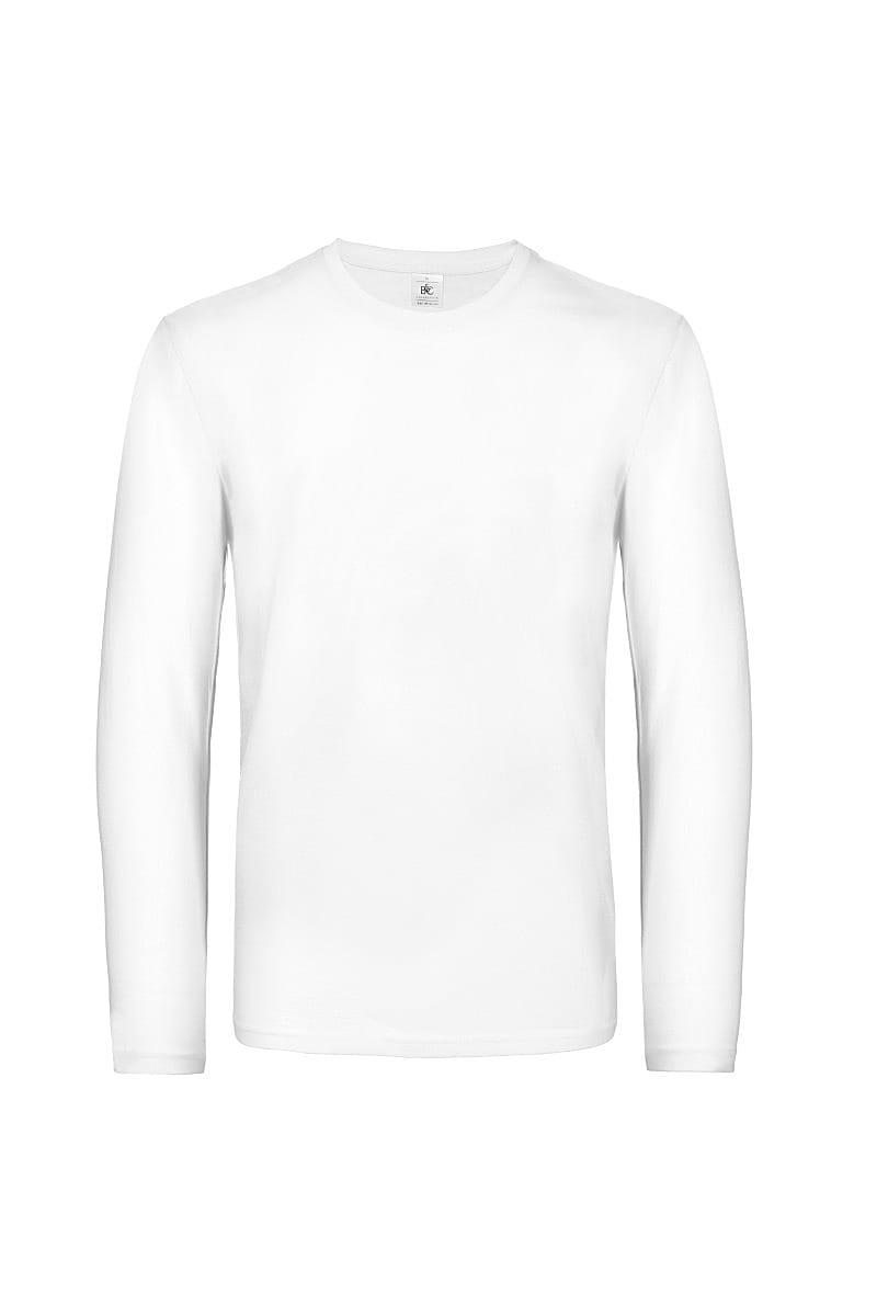 B&C Mens E190 Long-Sleeve Jersey in White (Product Code: TU07T)