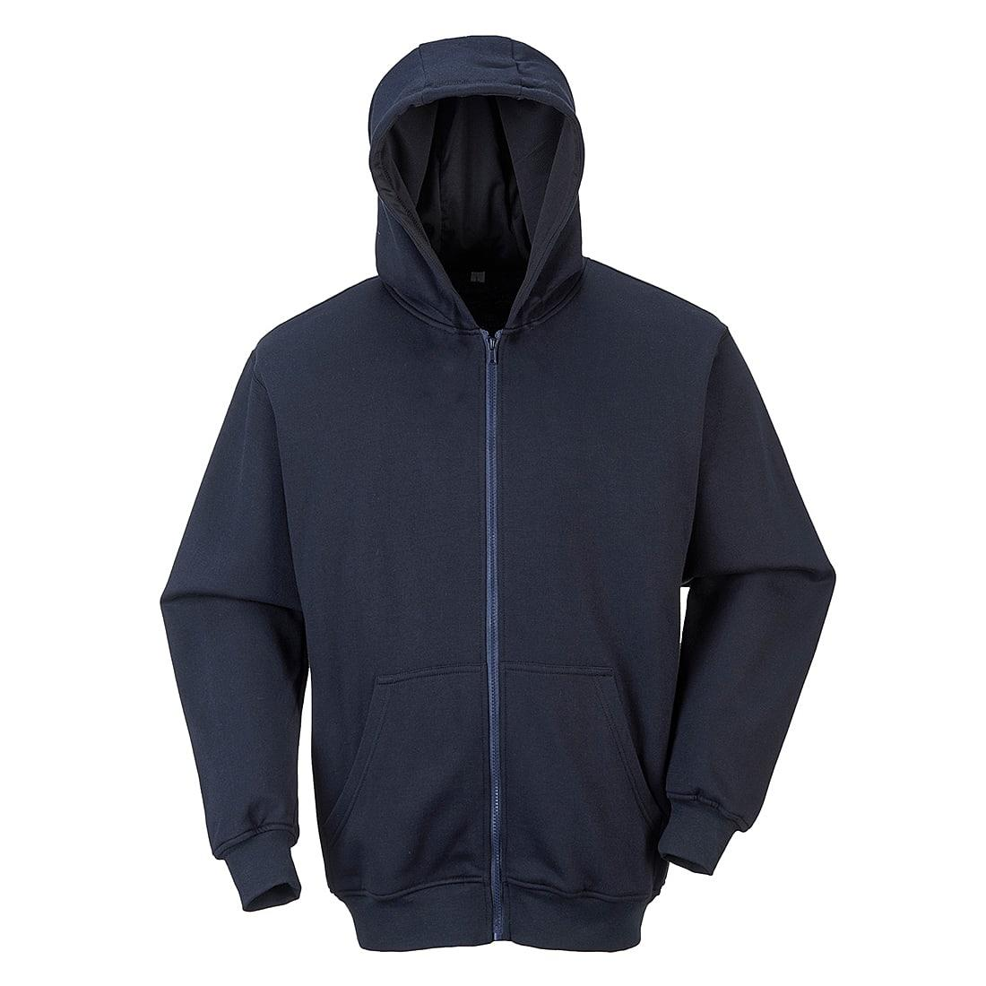 Portwest FR81 FR Zip Front Hoodie in Navy (Product Code: FR81)