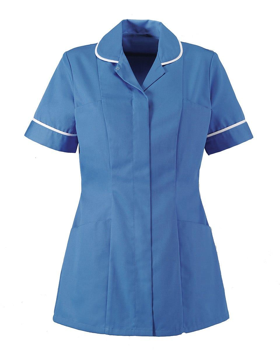 Alexandra Womens Tunic in Hospital Blue / White (Product Code: HP298)