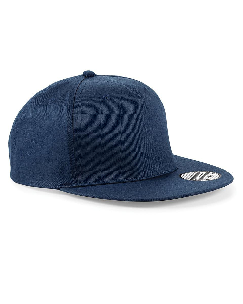Beechfield Snapback Rapper Cap in French Navy (Product Code: B610)