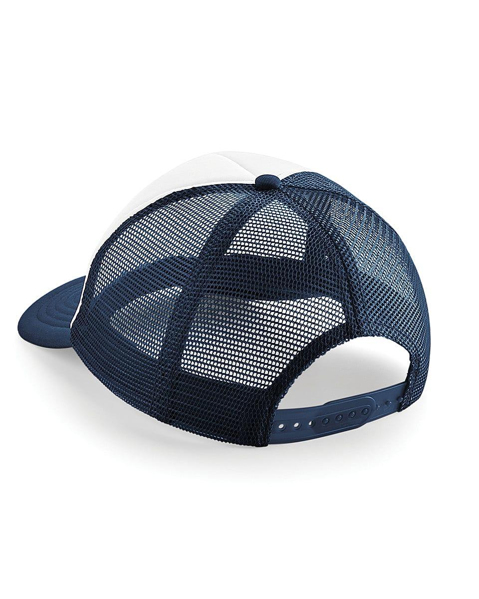 Beechfield Vintage Snapback Trucker Cap in French Navy / White (Product Code: B645)