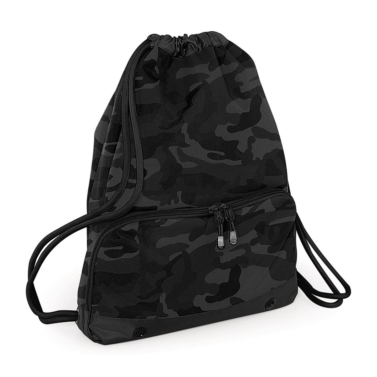 Bagbase Athleisure Gymsac in Midnight Camo (Product Code: BG542)