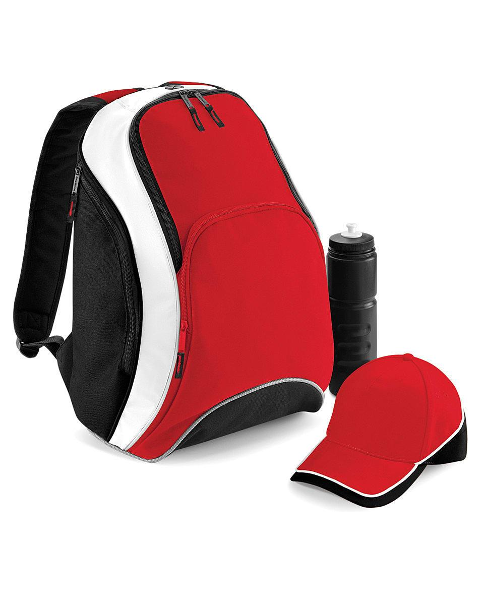 Bagbase Teamwear Backpack in Classic Red / Black / White (Product Code: BG571)