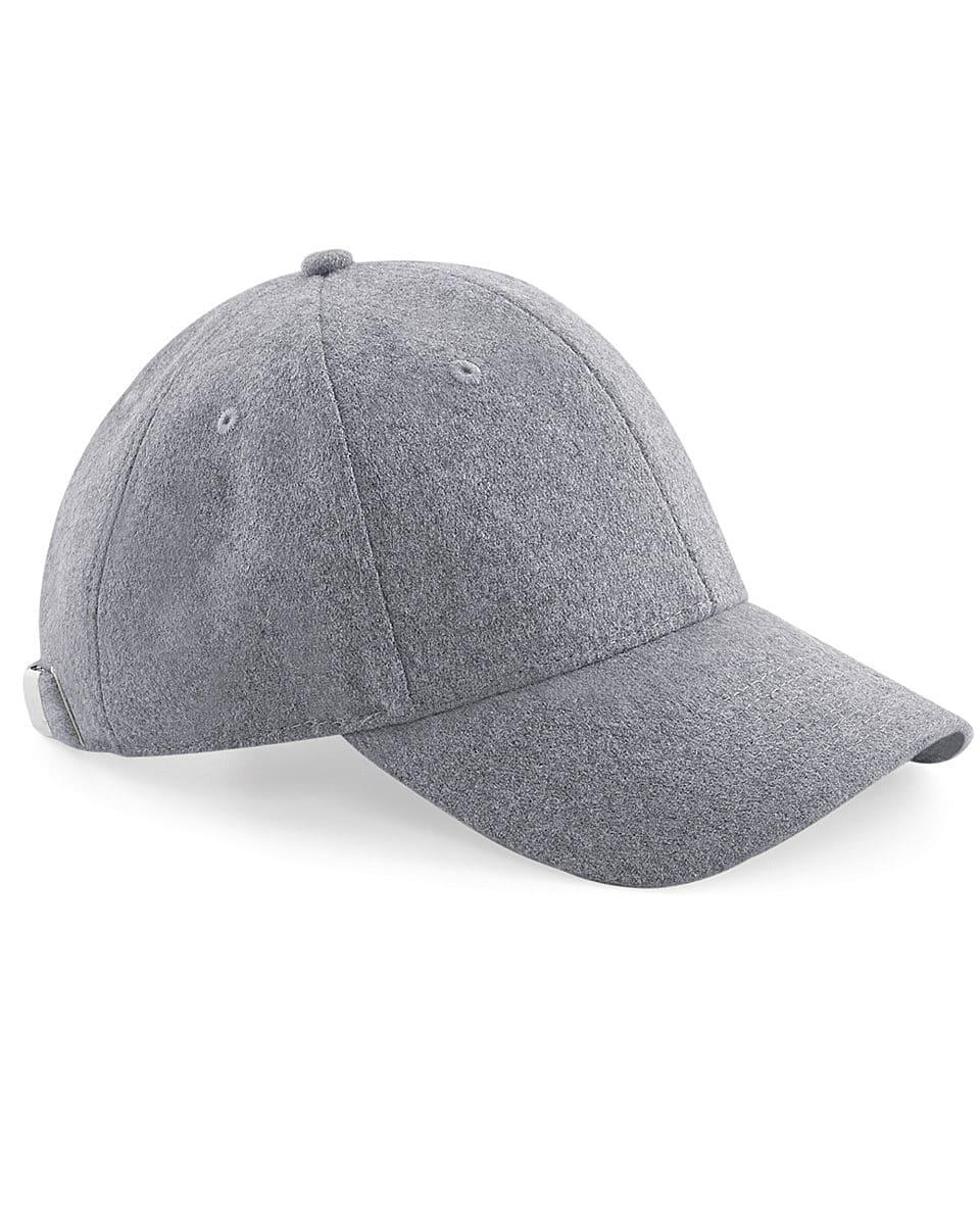 Beechfield Melton Wool 6 Panel Cap in Grey (Product Code: B674)