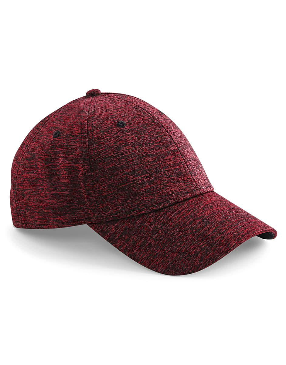 Beechfield Spacer Marl Stretch Fit Cap in Spacer Red (Product Code: B676)