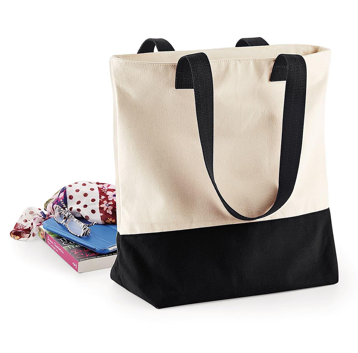 Bagbase Westcove Canvas Tote in Natural / Black (Product Code: BG683)