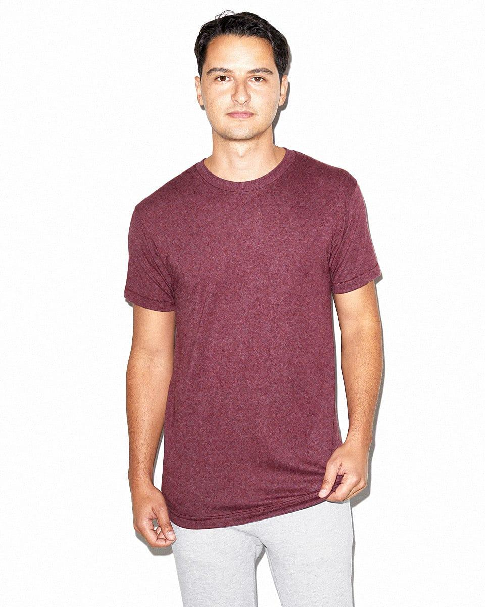 American Apparel Adult Triblend T-Shirt in Tri-Cranberry (Product Code: TR401W)