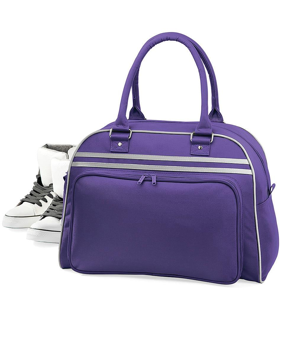 Bagbase Retro Bowling Bag in Purple / Light Grey (Product Code: BG75)