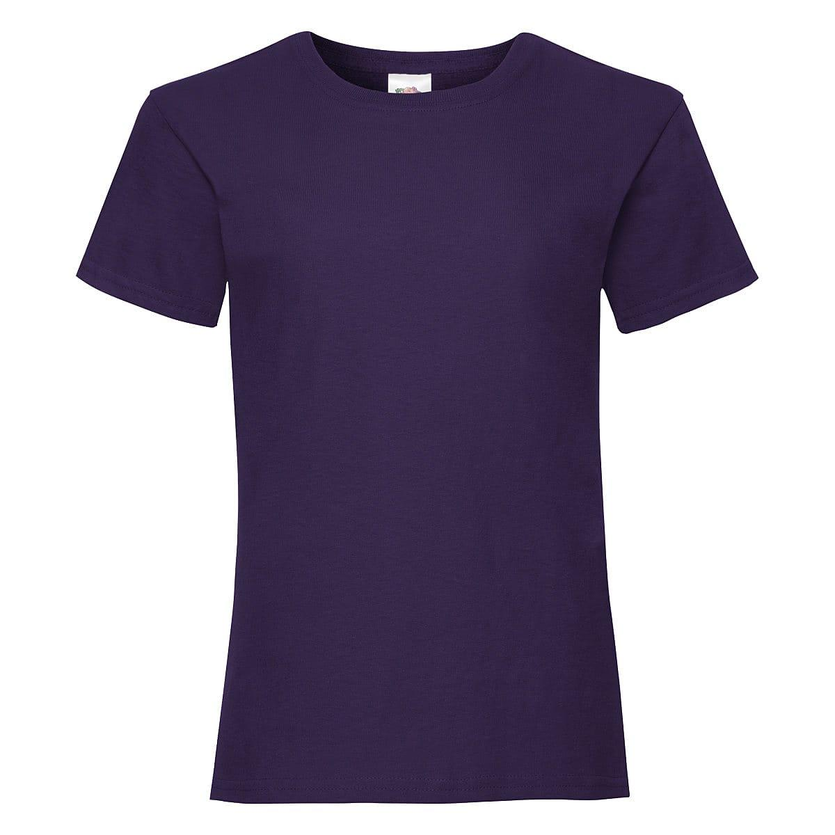 Fruit Of The Loom Girls Valueweight T-Shirt in Purple (Product Code: 61005)