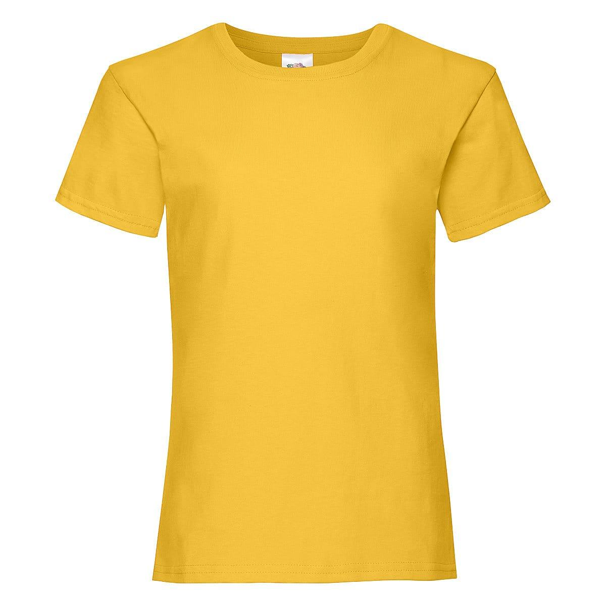 Fruit Of The Loom Girls Valueweight T-Shirt in Sunflower (Product Code: 61005)