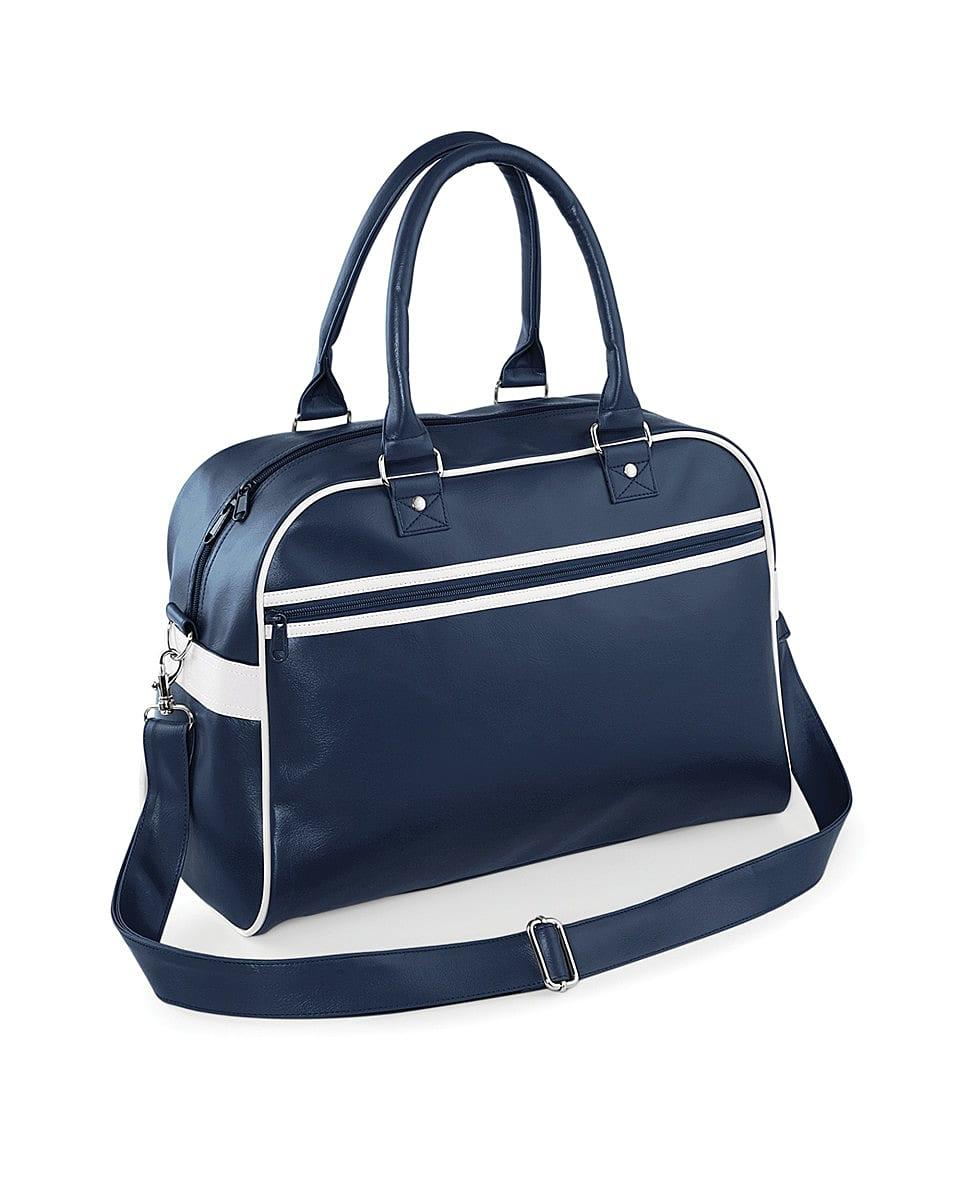 Bagbase Original Retro Bowling Bag in French Navy / White (Product Code: BG95)