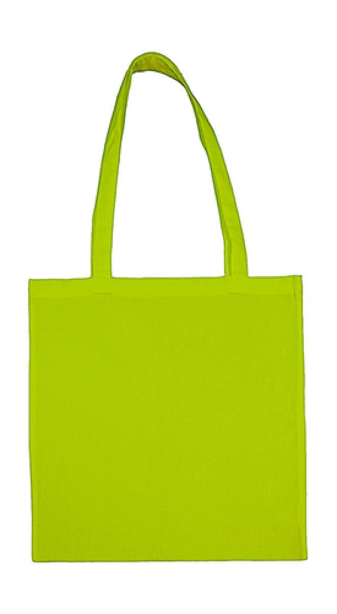 Jassz Bags Beech Cotton Long-Handle Bag in Lime (Product Code: 3842LH)
