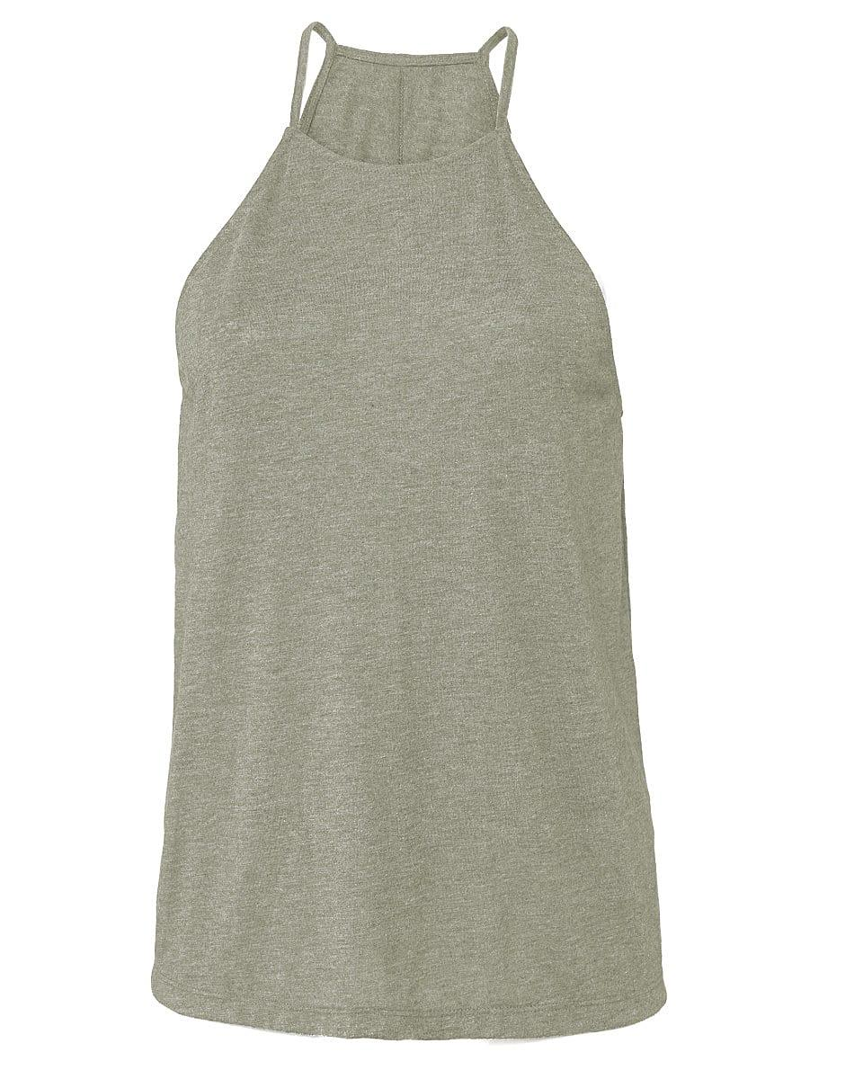 Bella Flowy High Neck Tank in Heather Stone (Product Code: BE8809)