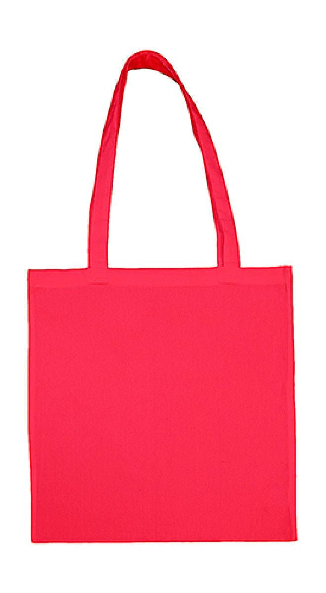 Jassz Bags Beech Cotton Long-Handle Bag in Rouge Red (Product Code: 3842LH)