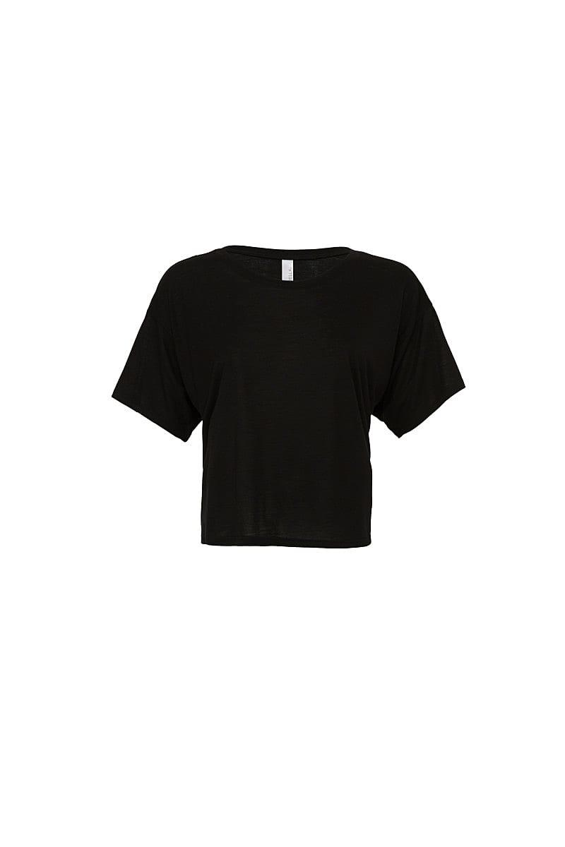 Bella Womens Boxy T-Shirt in Black (Product Code: BE8881)