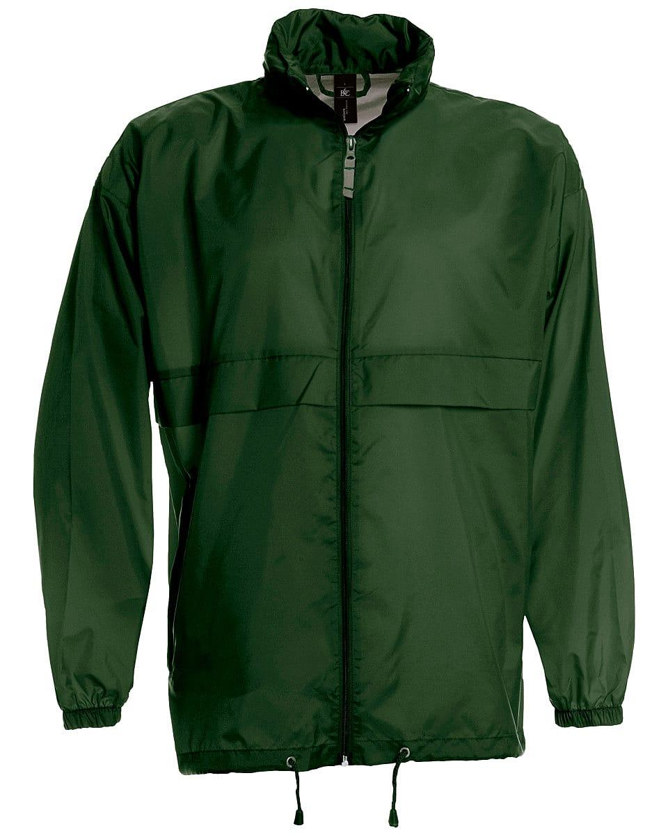 B&C Mens Sirocco Lightweight Jacket in Bottle Green (Product Code: JU800)