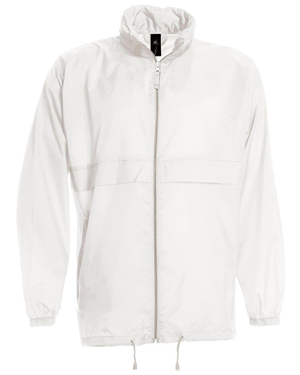 B&C Mens Sirocco Lightweight Jacket in White (Product Code: JU800)
