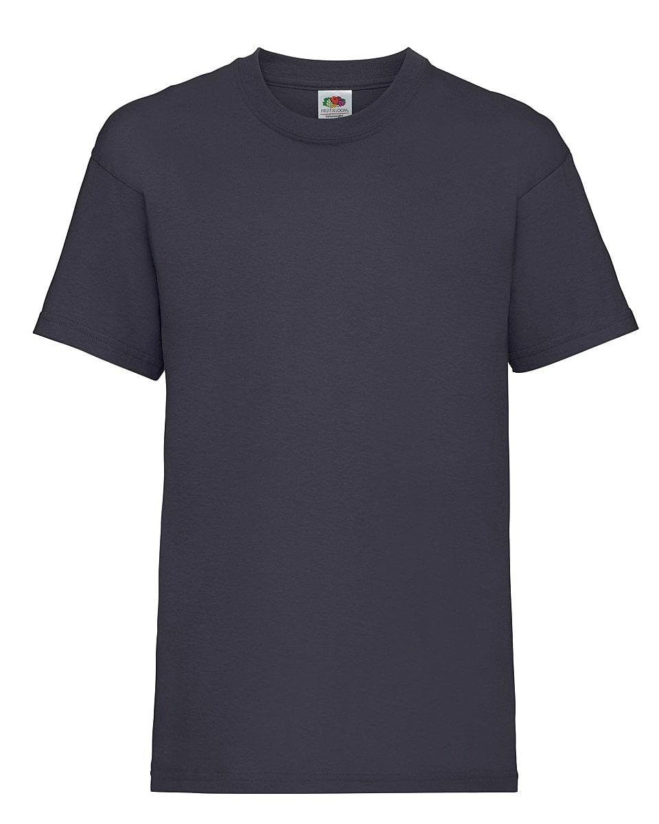 Fruit Of The Loom Childrens Valueweight T-Shirt in Navy Blue (Product Code: 61033)