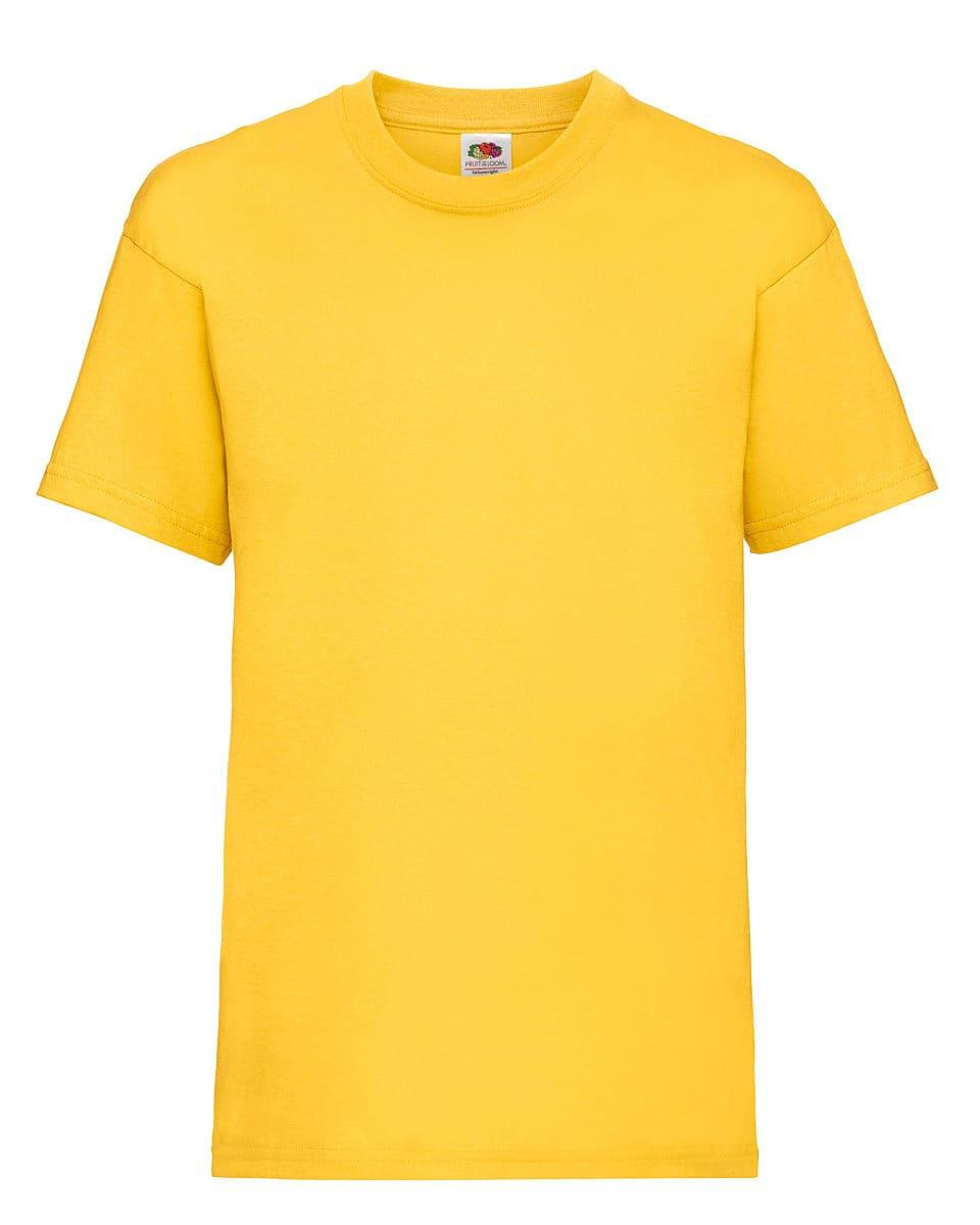 Fruit Of The Loom Childrens Valueweight T-Shirt in Yellow (Product Code: 61033)