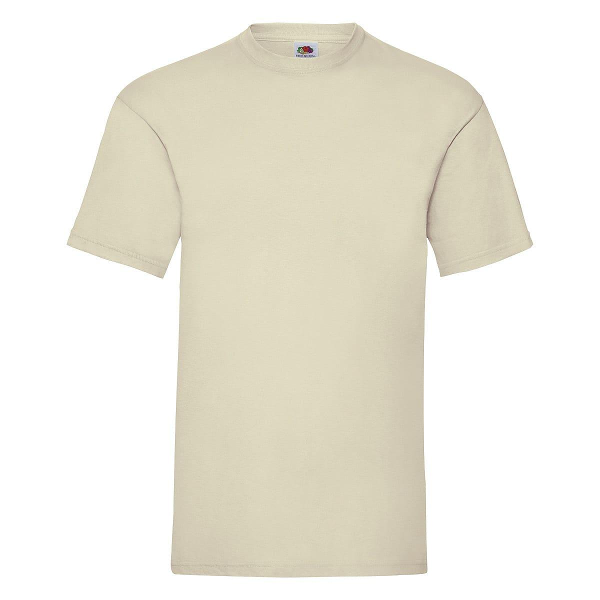 Fruit Of The Loom Valueweight T-Shirt in Natural (Product Code: 61036)
