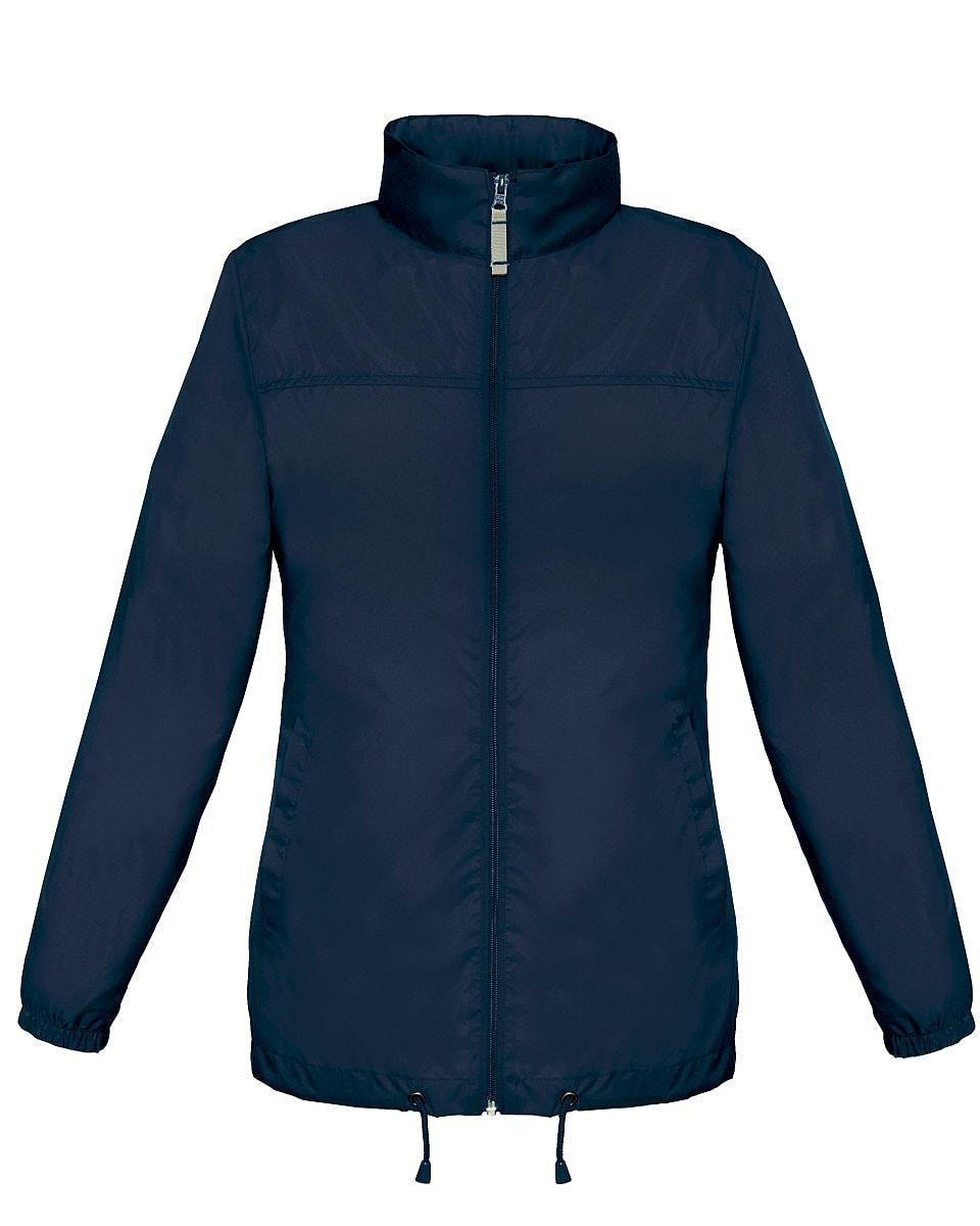 B&C Womens Sirocco Lightweight Jacket in Navy Blue (Product Code: JW902)