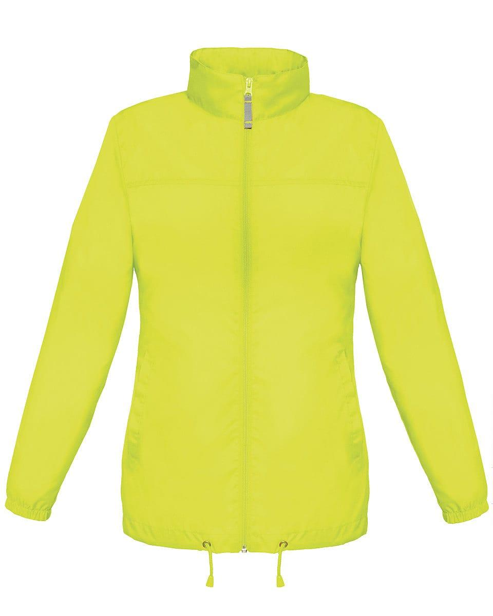 B&C Womens Sirocco Lightweight Jacket in Ultra Yellow (Product Code: JW902)