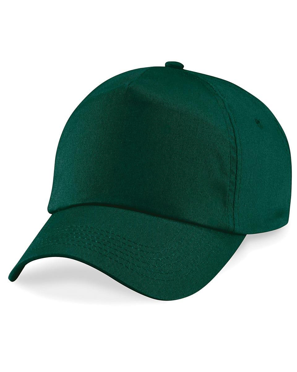 Beechfield Junior Original 5 Panel Cap in Bottle Green (Product Code: B10B)