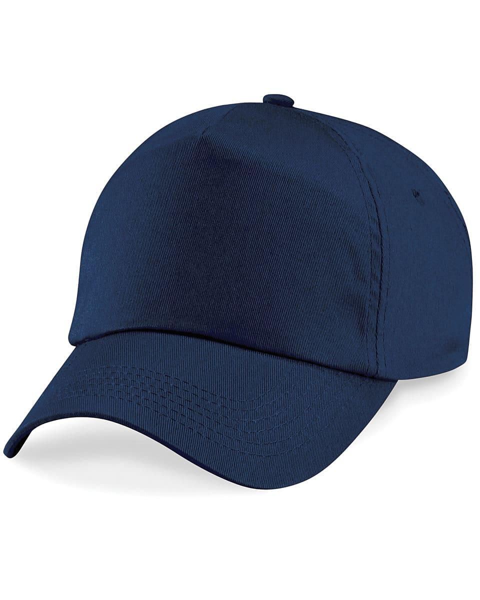 Beechfield Junior Original 5 Panel Cap in French Navy (Product Code: B10B)