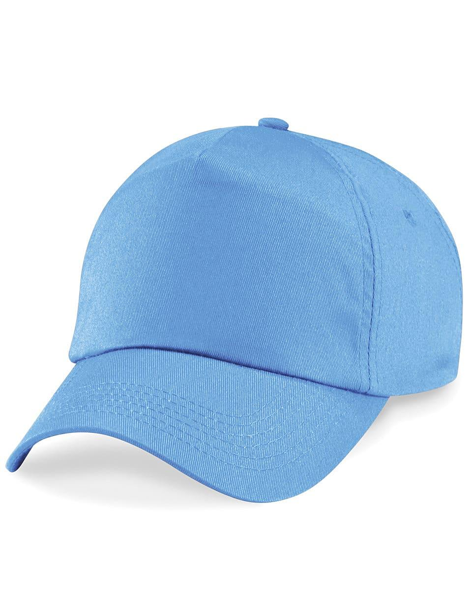 Beechfield Junior Original 5 Panel Cap in Sky Blue (Product Code: B10B)