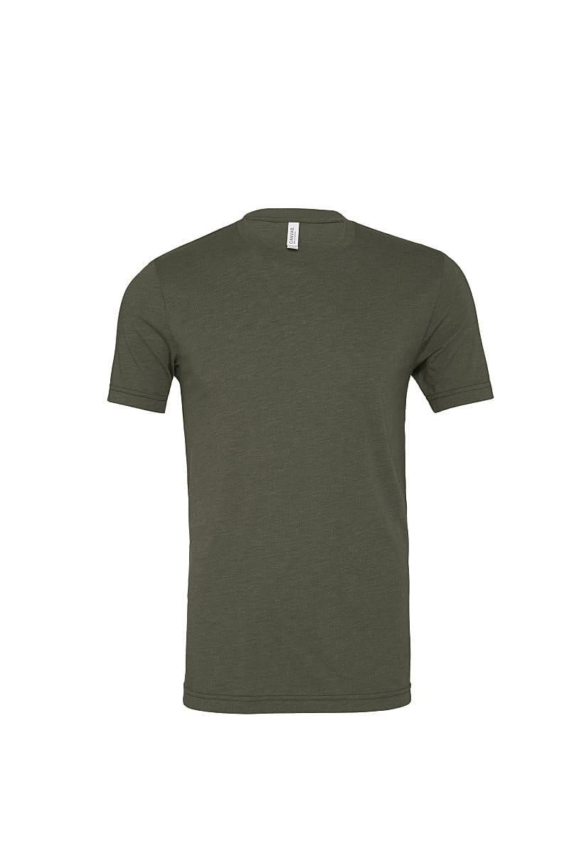Bella Canvas Mens Tri-blend Short-Sleeve T-Shirt in Military Green Triblend (Product Code: CA3413)